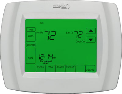 Lennox Comfortsense 5000 Touchscreen Thermostat North
